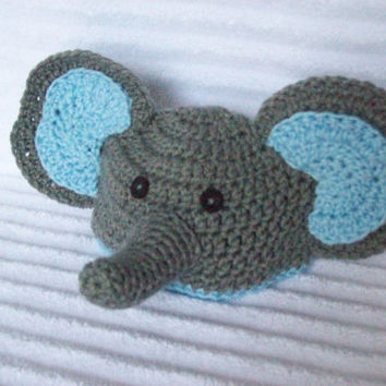 Crochet Pattern For Baby Elephant Hat : Shop Elephant Crochet Hat on Wanelo