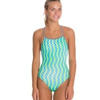 Dolfin Uglies Splashdots Print Womens V-2 Back Swimsuit at SwimOutlet.com