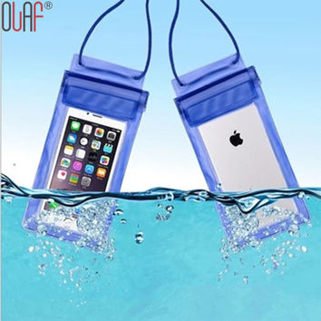 Universal Travel Swimming Waterproof Pouch Dirt Proof Durable Case Cover For iphone 5 5S SE 6 6s Plus For Samsung S7 S7 edge