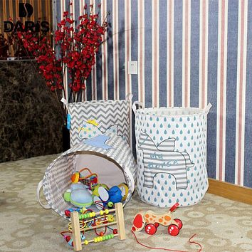 SDARISB Designer Cute Toy Kids Laundry Bag Basket Children Laundry Storage Box Bin Foldable Laundry Basket Organizer Hamper Baby