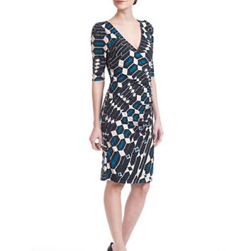 Plenty By Tracy Reese Geo Print Surplice Dress
