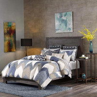 INK+IVY Alpine  Cotton Printed Comforter Bedding Set, Navy