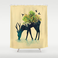 Watering (A Life Into Itself) Shower Curtain by Budi Satria Kwan