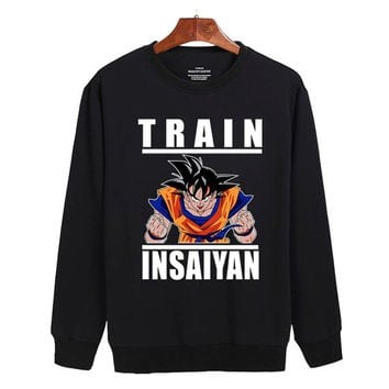 Dragon Ball GOKU Train Insaiyan Sweater sweatshirt unisex adults size S-2XL