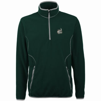 Charlotte 49ers Antigua Ice Quarter-Zip Fleece Jacket – Green