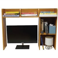 Classic Dorm Desk Bookshelf - Beech (Natural Wood)