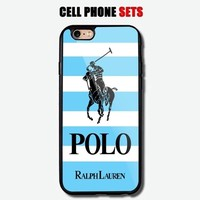 Polo Ralph Lauren Blue Mean Striped Logo Custom Design For iPhone Case Cover
