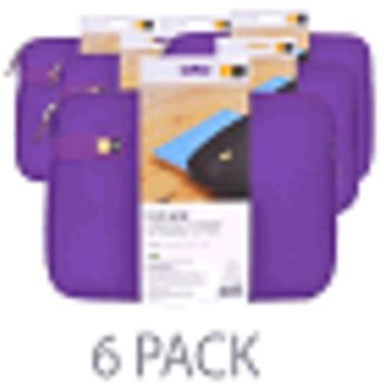 "(6-Pack) Case Logic LAPS-111 EVA Laptop Sleeve - Fits 11-11.6"" Chromebooks/Ultrabooks/MacBook Air (Purple)"