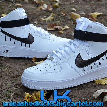 Custom Nike Drip Air Force 1s from FromUnleashedKicks on Etsy 6072c344f9