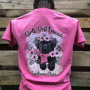 Southern Chics Girl's Best Friend Puppy Dog Comfort Colors Girlie Bright T Shirt