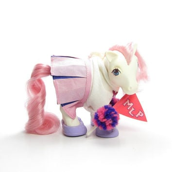Pom Pom Pony My Little Pony Wear Cheerleader Outfit Vintage G1 Clothes - Shoes, T-Shirt, Cheerleading Skirt, Pennant, Pom Poms