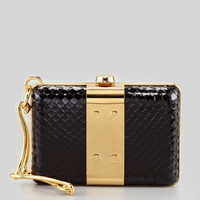 Tom Ford Natasha Anaconda Wristlet Minaudiere, Black