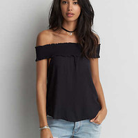 AEO Off-The-Shoulder Top , Black