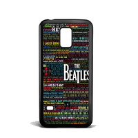 the beatles typography song lyric Samsung Galaxy S5 Mini Case