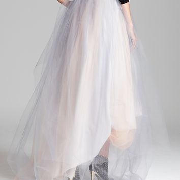 aqua skirt tulle high low from bloomingdale s barn