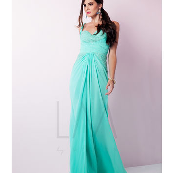 LM by Mignon HY1200 Lightly Beaded Bodice Spearmint Gown 2015 Prom Dresses