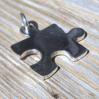 925 Sterling Silver Puzzle Piece Pendant