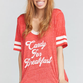 Boyfriend Cuddle Tee ~ Candy For Breakfast Graphic