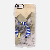 Sphynx Cat With Pyramids Of Giza iPhone 7 Case by Barruf | Casetify
