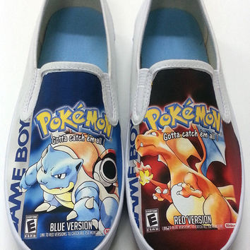 Custom Pokemon Box Art Canvas Shoes