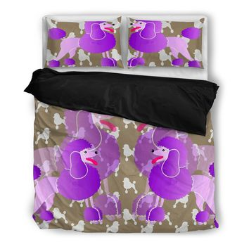 Cute Poodle Print Bedding Set- Free Shipping