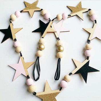 DIY Wooden Star Wall Flag | Wall Hanging Decorative 160cm