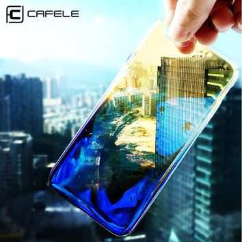 CAFELE Aurora Gradient Case for iphone 8 7 Luxury Hard PC Transparent Phone Cases for iphone 8 Plus 7 Plus Slim Shockproof Cover