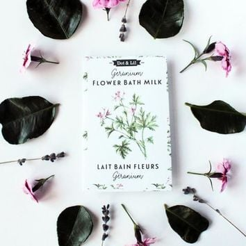 Geranium Flower Bath Milk Sachet