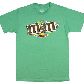 Men's M&M's Candy M And M Distressed Chocolate Candies T-Shirt