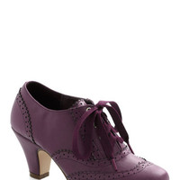 ModCloth Menswear Inspired Dance Instead of Walking Heel in Purple