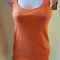 Zara Trafaluc Women's orange Tank Top Size Small S EUC