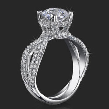 Diamond Fashion Ring .98 Ctw 14k Engagement Rings ctw