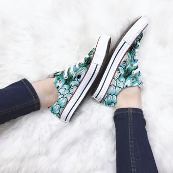 Peacock Gardens Converse Low Top