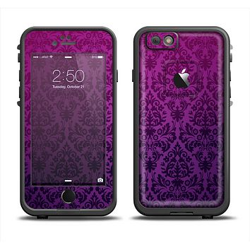 The Purple Delicate Foliage Pattern Apple iPhone 6 LifeProof Fre Case Skin Set