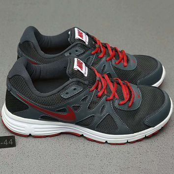 Nike REVOLUTION 2 MSL Women Casual Running Sport Shoes Sneakers Dark grey+Red G-A0-HXYDXPF