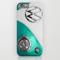 VW Split Screen in Teal iPhone & iPod Case by Alice Gosling