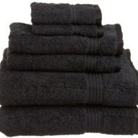 Superior Egyptian Cotton 6-Piece Towel Set, Black