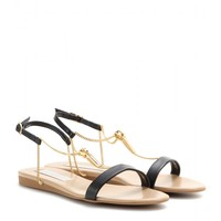 stella mccartney - faux-leather and chain-detail sandals