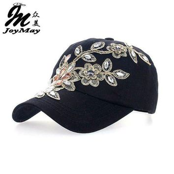 2016 Women Variety Rhinestone &crystal Shining Studded Cotton Denim Visor Hat Bling Adjustable Baseball Caps Free Shipping B038