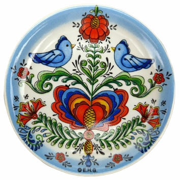 Lovebirds Souvenir Fridge Magnet Plate