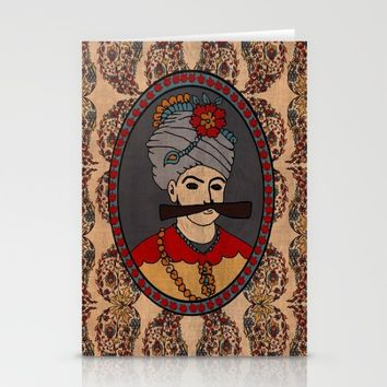 Persian King tapestry( shah abbas) Stationery Cards by Bluepersiandesign