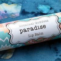 PARADISE Lip Balm - Tropical Fruit Flavored Handmade Natural Chapstick