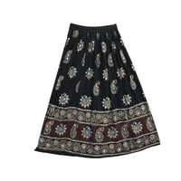 Mogulinterior Sequin Gypsy Skirt Black Bcrapechic Bohemian Peasant Hippie Long Skirts