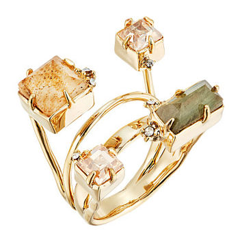 Alexis Bittar Geometric Multi Stone Ring with Satellite Crystal Detail
