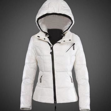 Moncler Joinville Asymmetric Puffer Jacket white