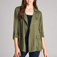 Fall in Love Olive Green Jacket
