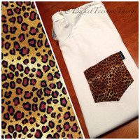 LIMITED TIME ONLY. Cheetah Pocket Tee Size by PocketTeesandThings