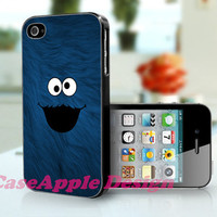Cookie Monster - Apple iPhone 4 Case iPhone 4S Case iPhone Hard Case iPhone 4 Case Cover
