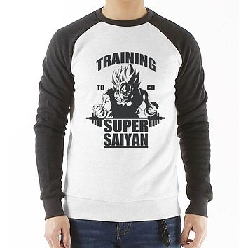 new fashion brand clothing to go Super Saiyan raglan sleeve casual hoody cotton men's sweatshirt Dragon Ball Z Goku bodybuilding