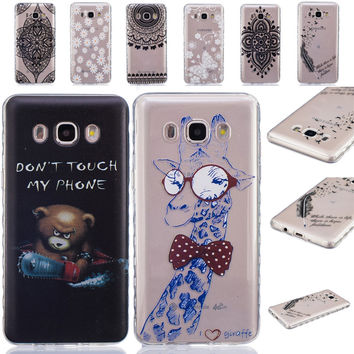Clear Henna Floral Paisley Mandala Phone Cases for Galaxy S7 S6 Edge S8 Plus S4 S5